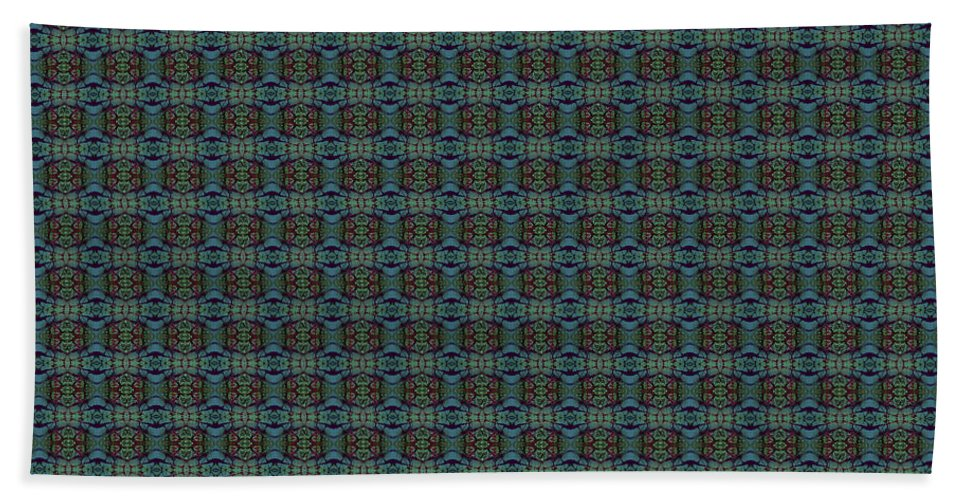 Beach Towel featuring the painting Teal Diamond Crackle From Sunset Strip by Sue Duda