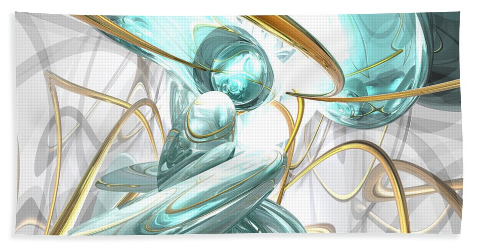 3d Beach Towel featuring the digital art Teary Dreams Abstract by Alexander Butler