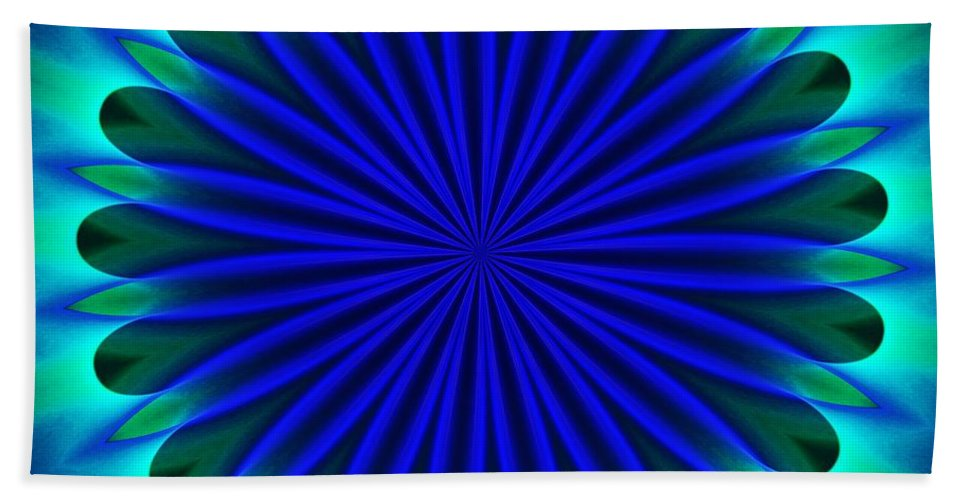 Fine Art Beach Towel featuring the digital art ten minute art 102610B by David Lane