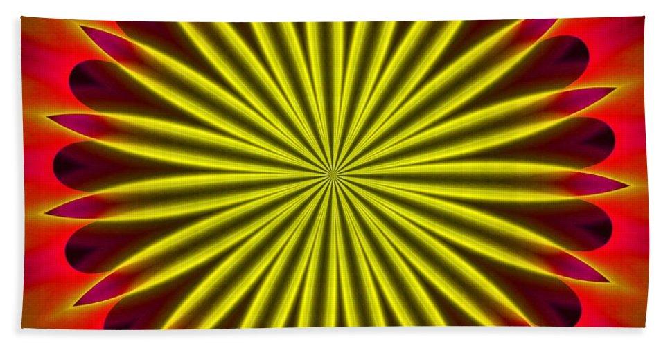 Fine Art Beach Towel featuring the digital art Ten Minute Art 102610c by David Lane