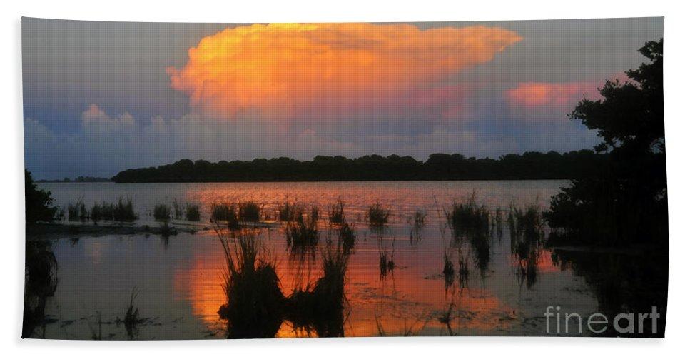 Ten Thousand Islands Florida Beach Towel featuring the painting Ten Thousand Islands Florida by David Lee Thompson