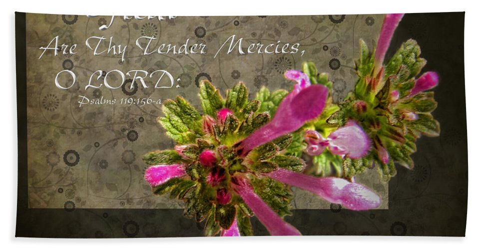 Nature Beach Towel featuring the photograph Tender Mercies by Debbie Portwood