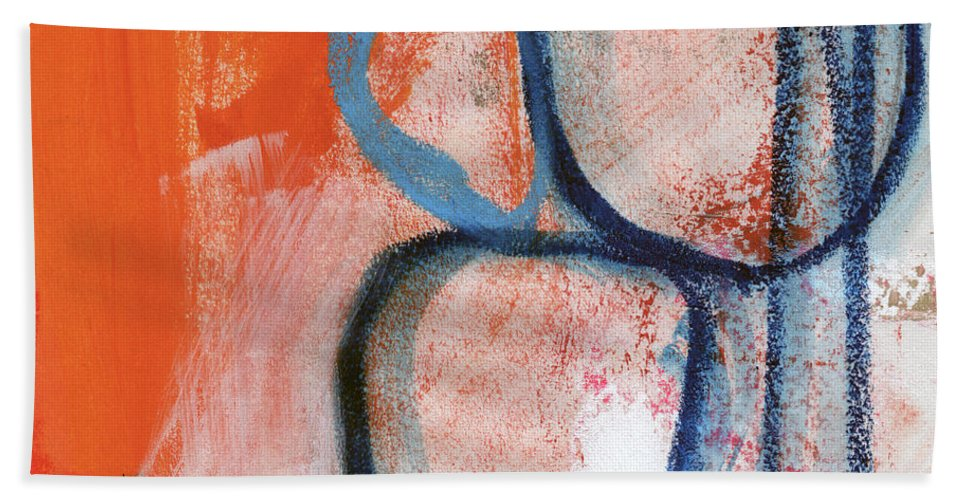 Contemporary Abstract Beach Towel featuring the painting Tender Mercies by Linda Woods