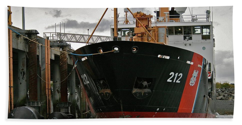 Uscg Beach Towel featuring the photograph Tender by Rick Monyahan