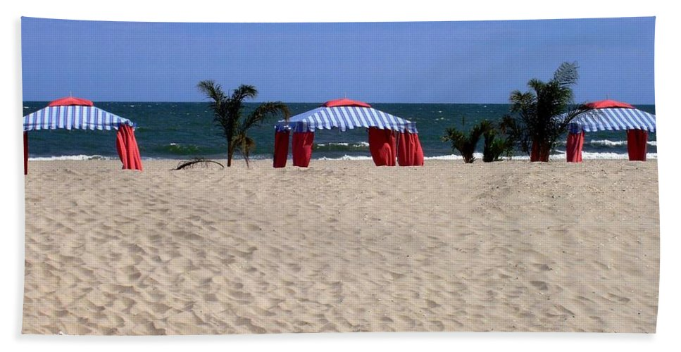 Beach Beach Towel featuring the photograph Tent Caravan by Deborah Crew-Johnson