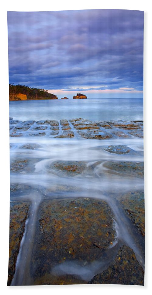 Sunset Beach Towel featuring the photograph Tesselated Sunset by Mike Dawson