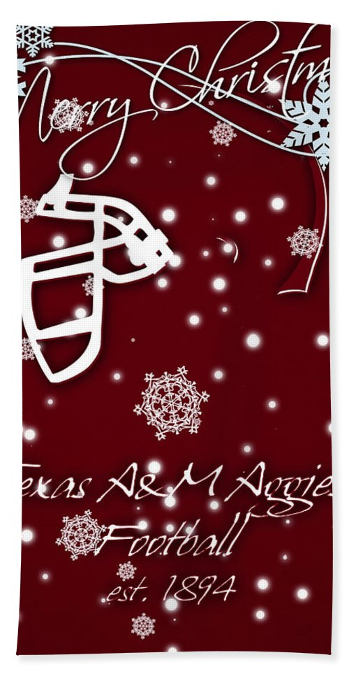 Texas A&m Aggies Beach Towel featuring the photograph Texas Am Aggies Christmas Card by Joe Hamilton