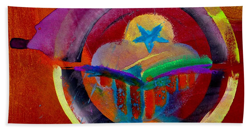 Button Beach Towel featuring the painting Texicana by Charles Stuart