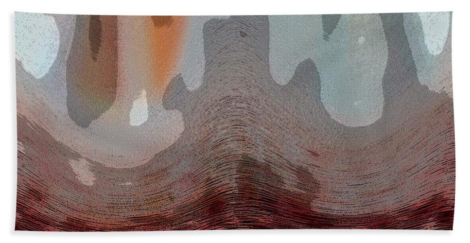 Abstracts Beach Sheet featuring the digital art Textured Waves by Linda Sannuti