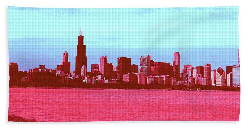 Beach Towel featuring the photograph Textures Of Chicago by Andrea Schumacher
