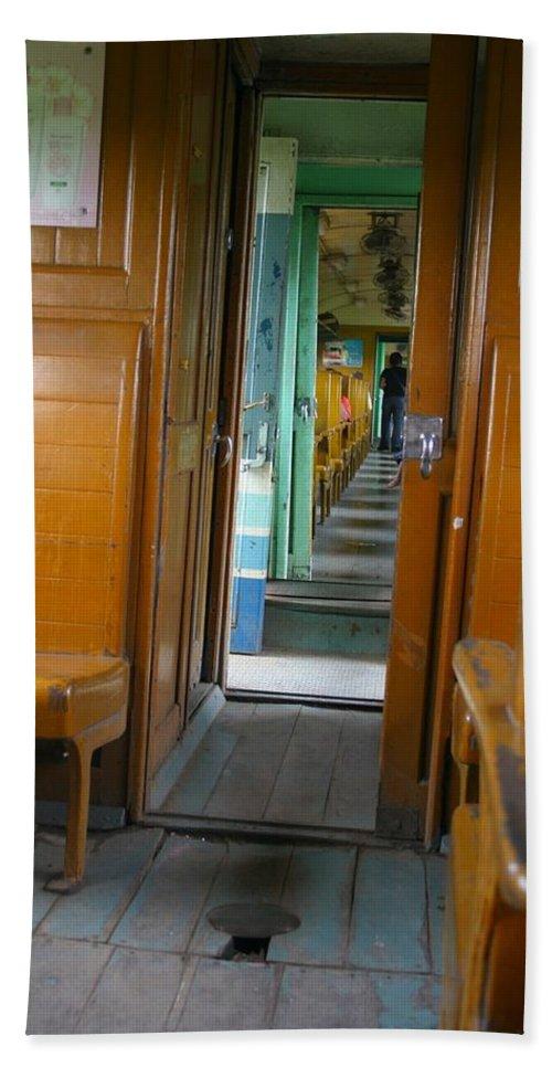 Train Beach Towel featuring the photograph Thailand Train by Minaz Jantz
