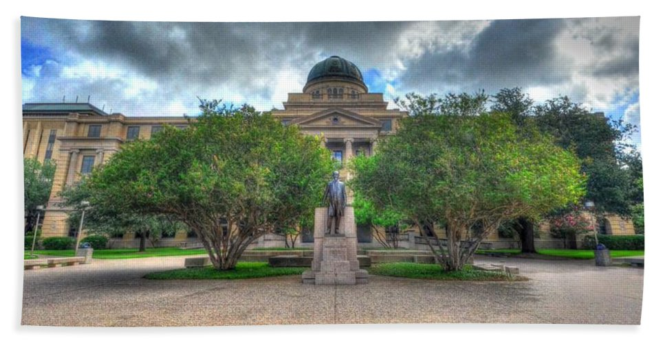 Academic Building Beach Towel featuring the photograph The Academic Building by David Morefield