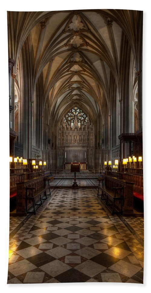 Architecture Beach Towel featuring the photograph The Altar by Adrian Evans