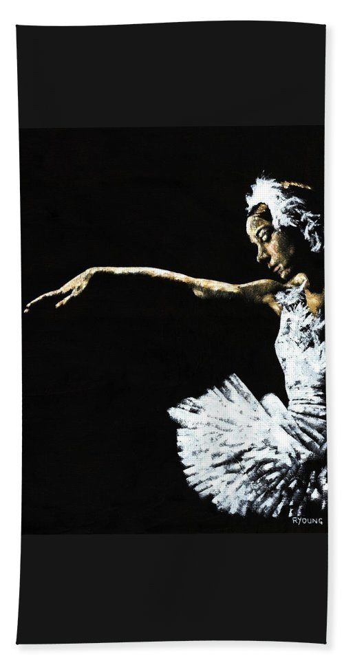 Ballet Beach Towel featuring the painting The Art of Grace by Richard Young