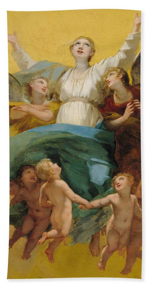 The Beach Towel featuring the painting The Assumption Of The Virgin by Pierre Paul Prudhon