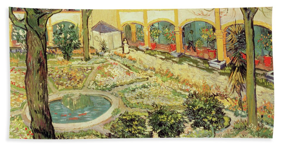Delicieux Vincent Van Gogh Beach Sheet Featuring The Painting The Asylum Garden At  Arles By Vincent Van