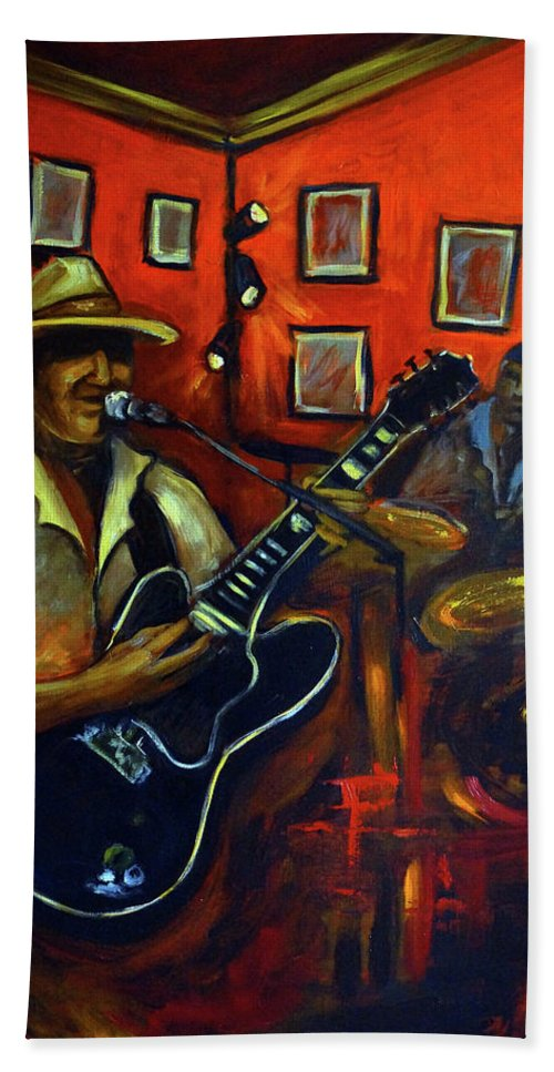 Blues Beach Sheet featuring the painting The Back Room by Valerie Vescovi