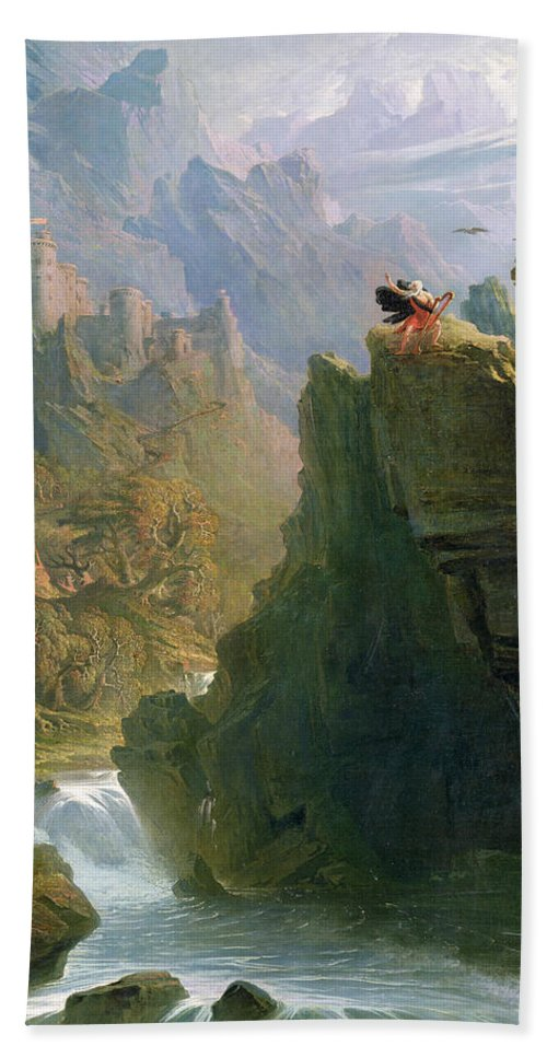 Xyc136233 Beach Towel featuring the photograph The Bard by John Martin