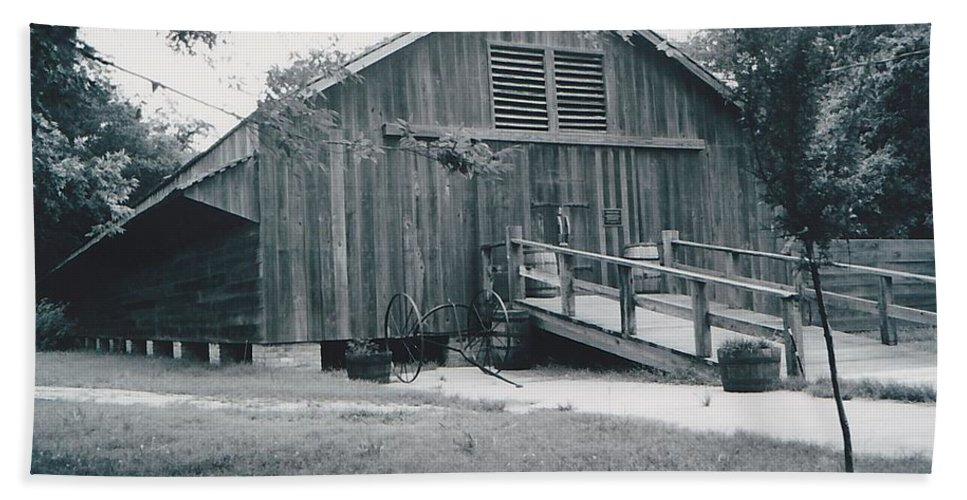 Barn Beach Towel featuring the photograph The Barn by Michelle Powell