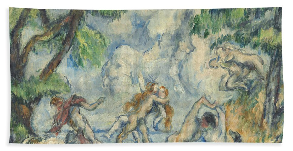Beach Towel featuring the painting The Battle Of Love by Paul C?zanne