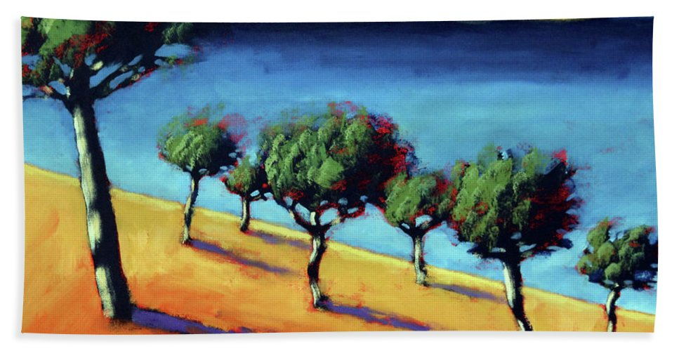 Vacation Beach Towel featuring the painting The Bay by Paul Powis