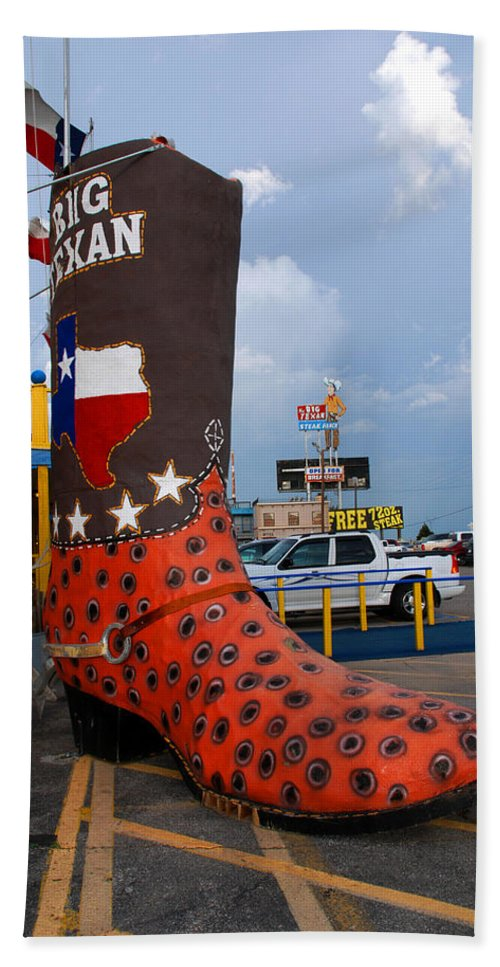 Big Boot Beach Towel featuring the photograph The Big Boot by Susanne Van Hulst