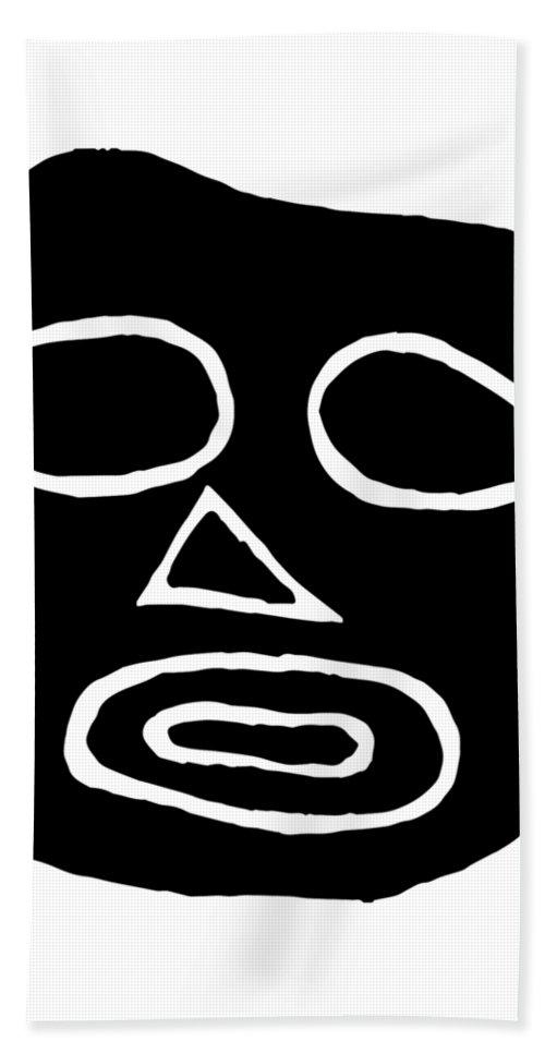 Head Beach Towel featuring the drawing The Big Head by Tati Alecrim