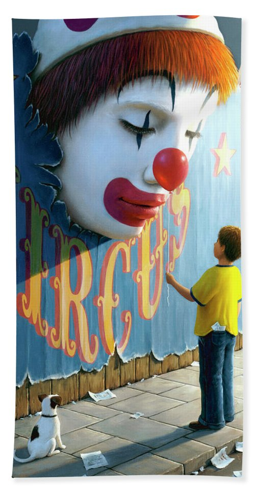 Clown Beach Sheet featuring the painting The Big Top by Brian McCarthy