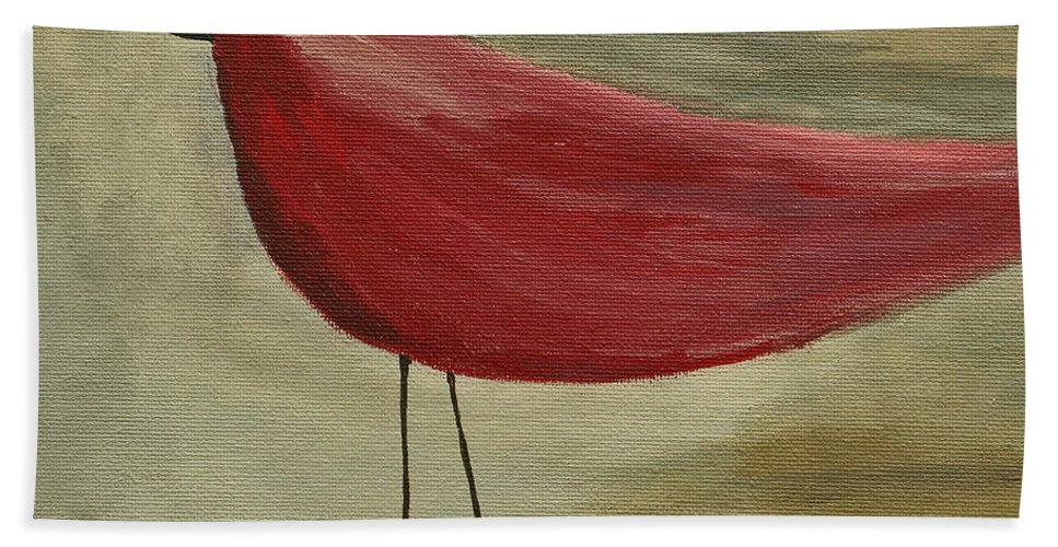 Bird Beach Towel featuring the painting The Bird - Original by Variance Collections