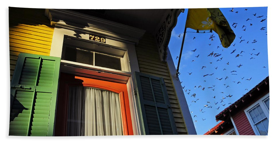 Skip Hunt Beach Towel featuring the photograph The Birds by Skip Hunt