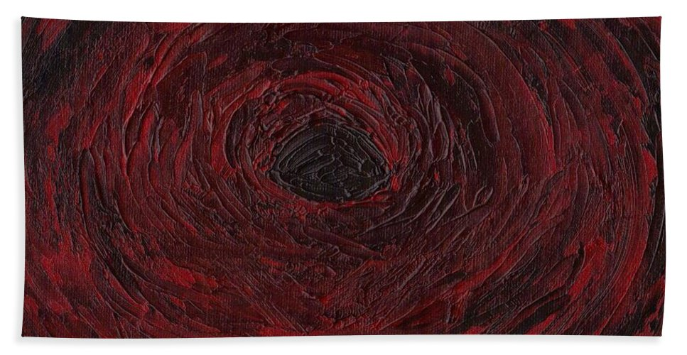 Swirls Beach Towel featuring the painting The Black Hole by Jill Christensen