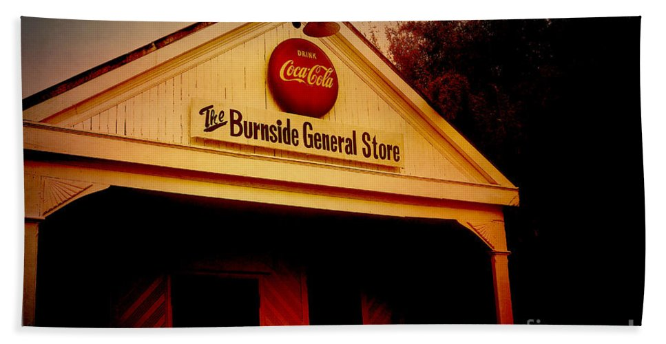 Burnside Beach Towel featuring the photograph The Burnside General Store by Scott Pellegrin