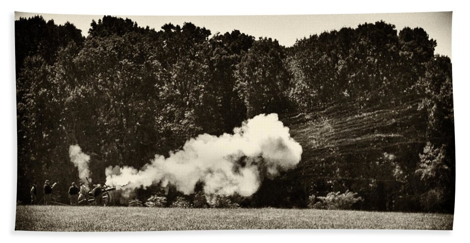 Cannon Beach Towel featuring the photograph The Cannons' Thunder by Scott Wyatt