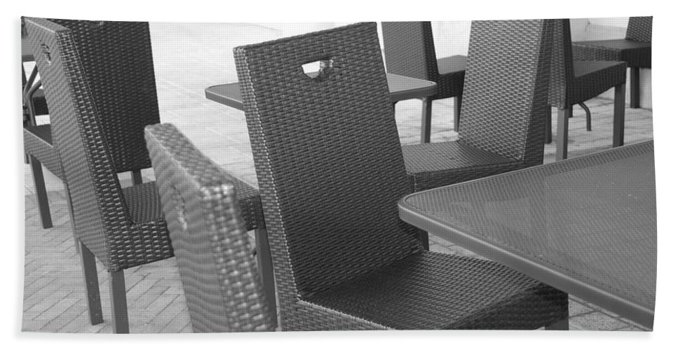 Pop Art Beach Towel featuring the photograph The Chairs by Rob Hans