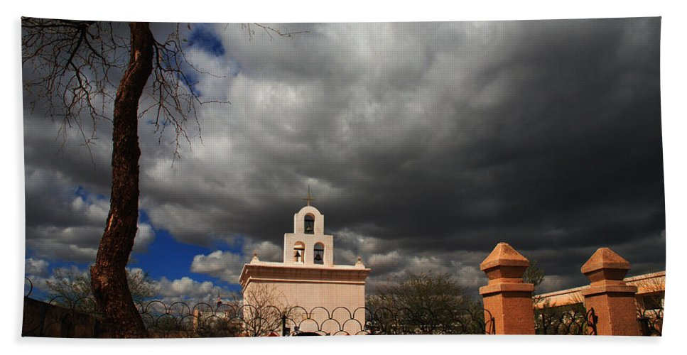 Photography Beach Towel featuring the photograph The Chapel by Susanne Van Hulst