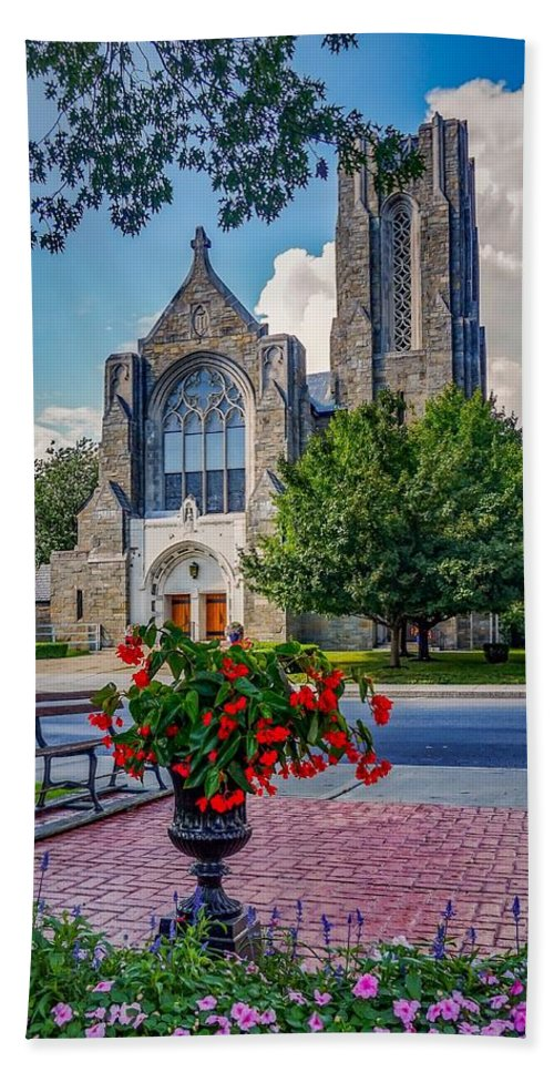 Beach Sheet featuring the photograph The Church In Summer by Kendall McKernon