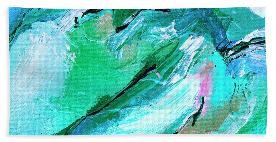 The Coastal Range Beach Towel featuring the painting The Coastal Range by Dominic Piperata