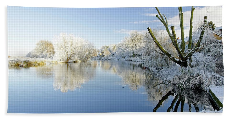 Europe Beach Towel featuring the photograph The Cold River by Rod Johnson