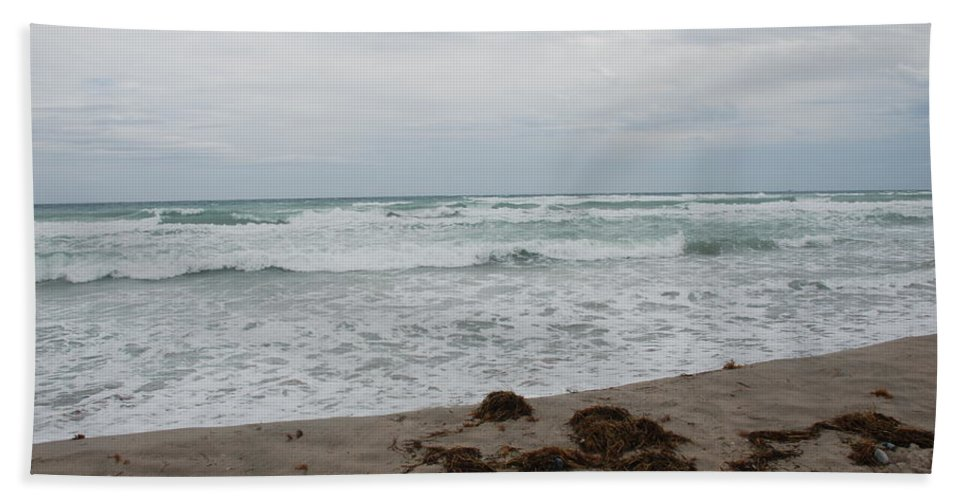 Water Beach Towel featuring the photograph The Cold Sea by Rob Hans