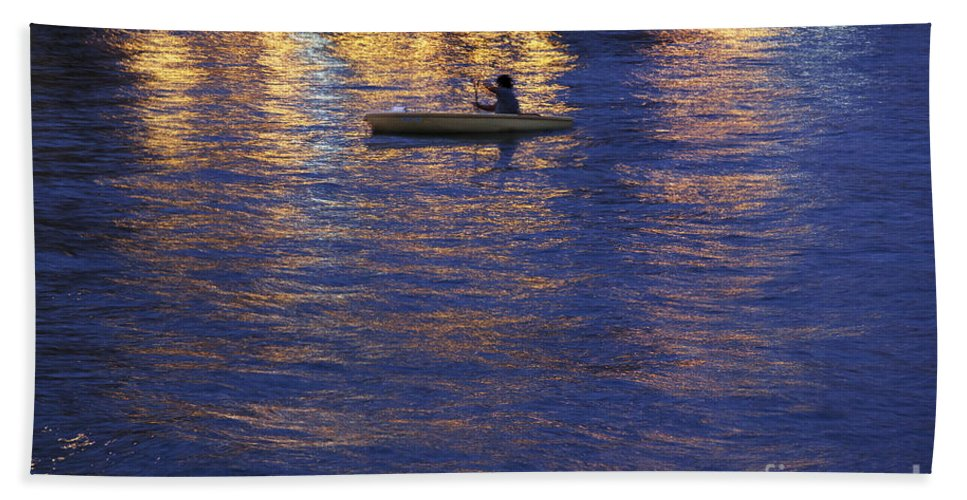 Canoeing At Night Beach Towel featuring the photograph The Composer by Casper Cammeraat
