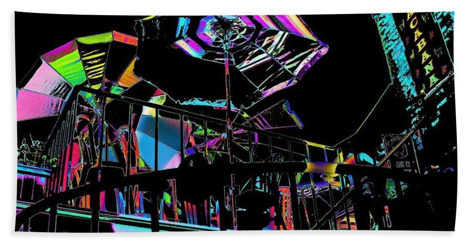 Seattle Beach Sheet featuring the digital art The Copacabana by Tim Allen