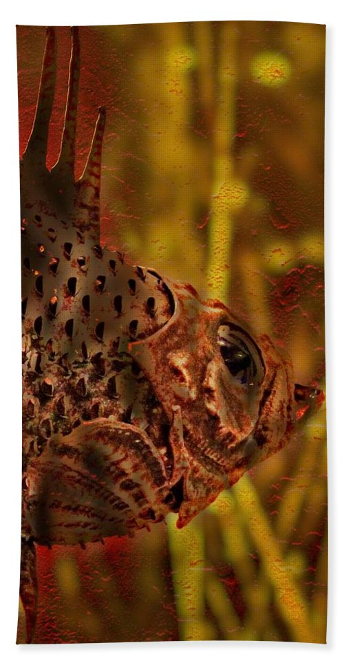 Fish Beach Towel featuring the photograph The Copper Rockfish by Thom Zehrfeld