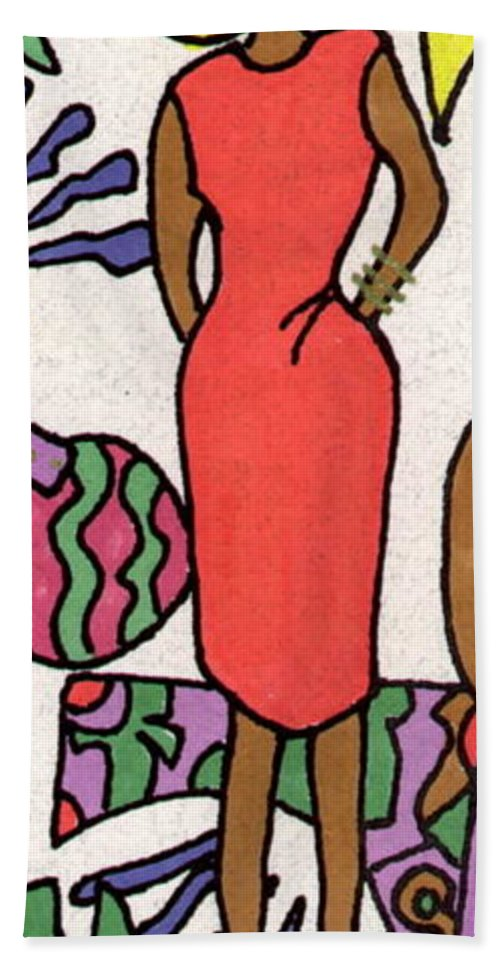 Bright Colors Beach Towel featuring the painting The Courage To Stand by Angela L Walker