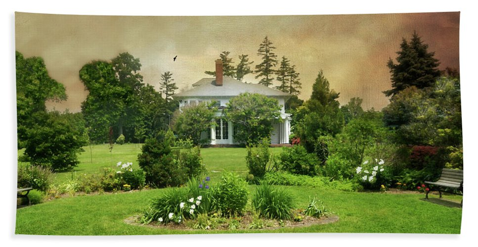 Nature Beach Towel featuring the photograph The Crawford Park Mansion by Diana Angstadt