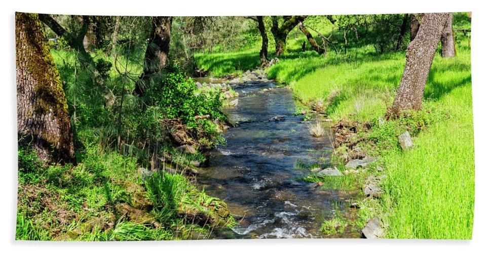 Black Oak Beach Towel featuring the photograph The Creek by Jim Thompson