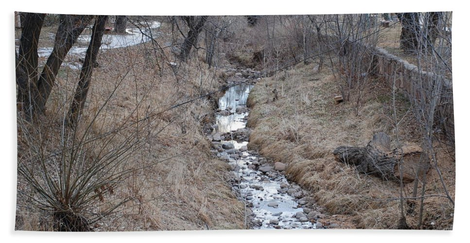 Water Beach Towel featuring the photograph The Creek by Rob Hans