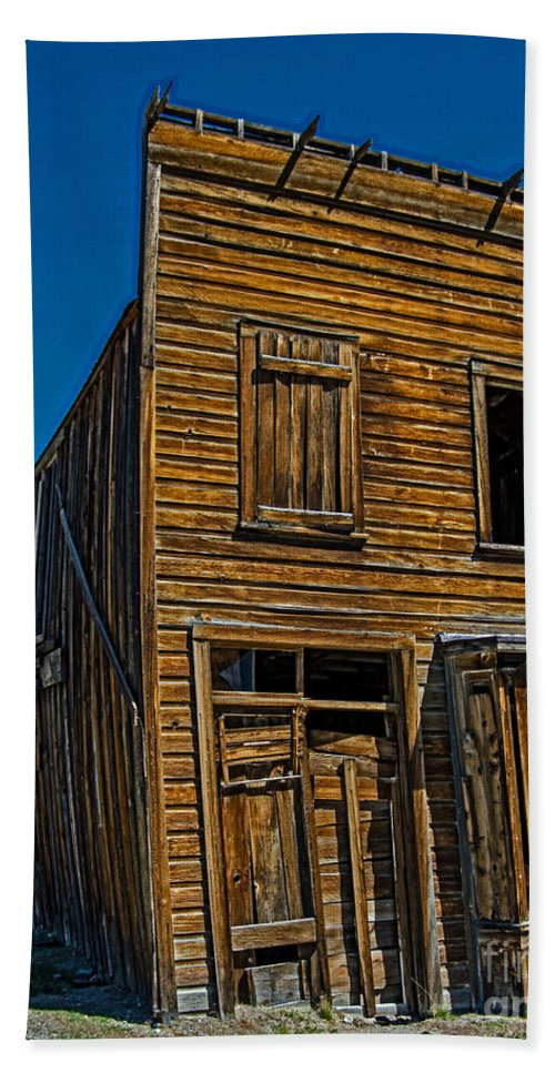 Crooked House Beach Towel featuring the photograph The Crooked House by Stephen Whalen