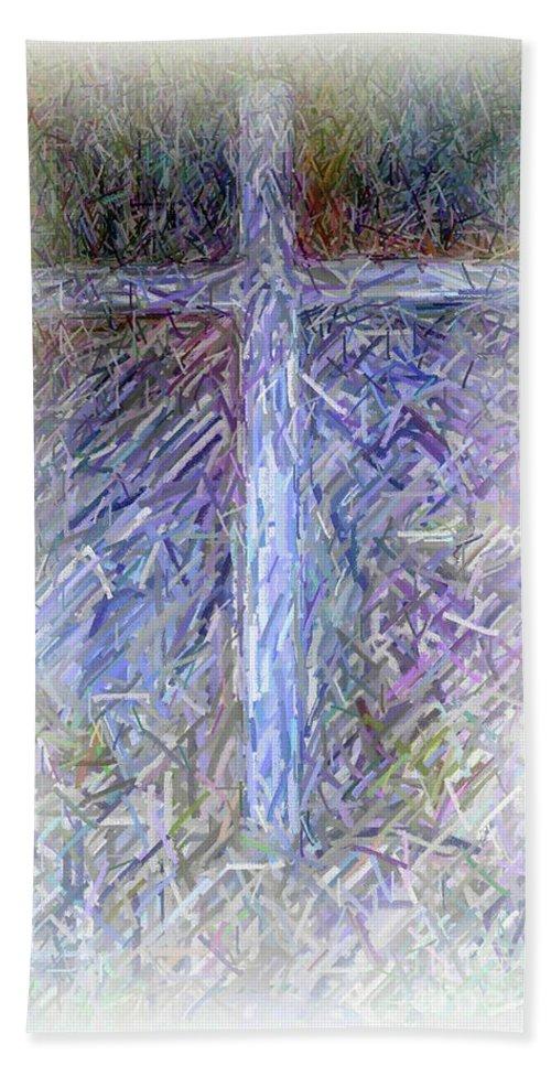 The Cross Beach Towel featuring the digital art The Cross by Karen Francis