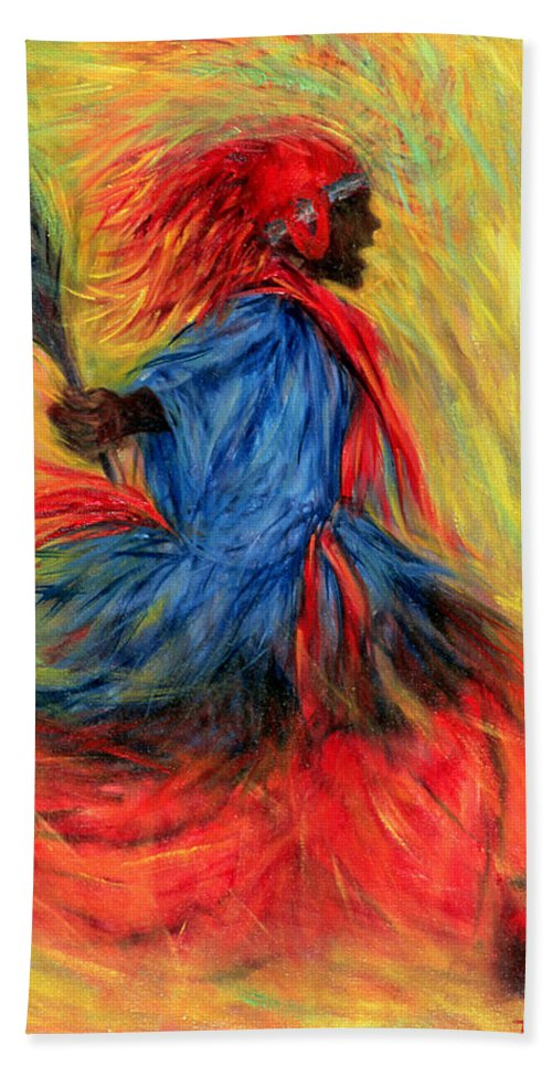 Dancer Beach Towel featuring the painting The Dancer by Tilly Willis