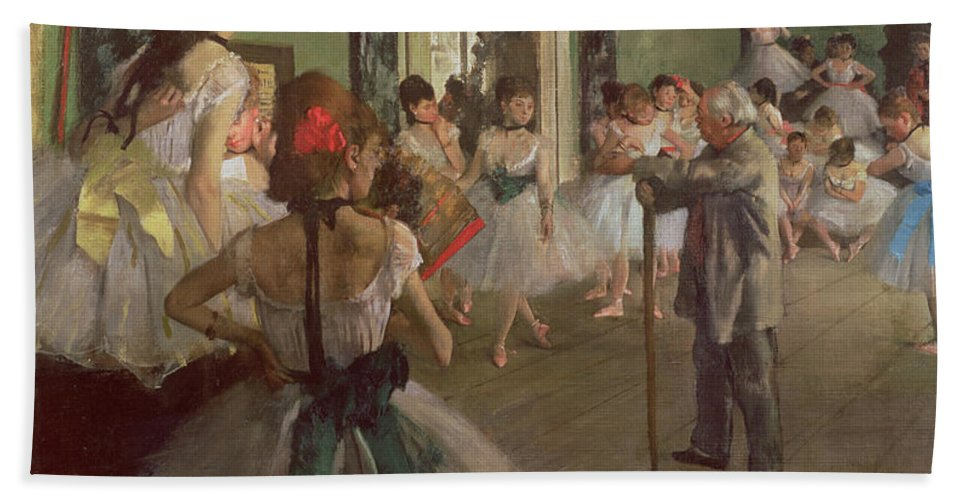 The Beach Towel featuring the painting The Dancing Class by Edgar Degas